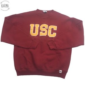 Russell Athletic USC Trojans Pullover Sweater DO9